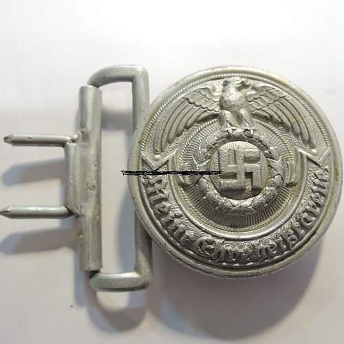 SS oficier belt buckle genuine?