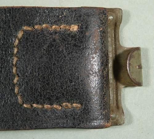 SS RZM marked belt