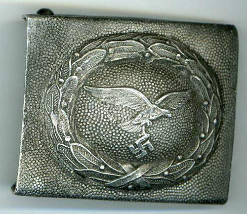 SS Elite Buckle with RZM Mark and Numbers and Luftwaffe Enlisted Man's Buckle: Authentic pieces?