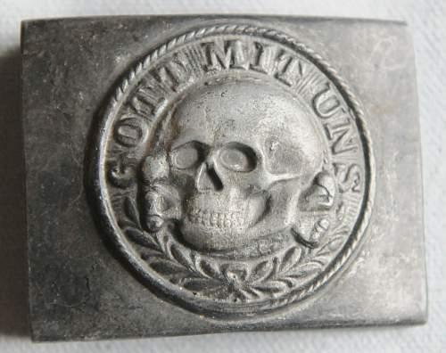 SS Belt Buckle Totenkopf