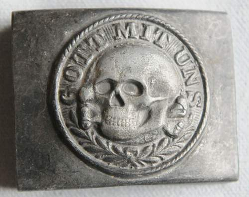Click image for larger version.  Name:1 SS Belt Buckle Totenkopf front.jpg Views:580 Size:211.7 KB ID:942992