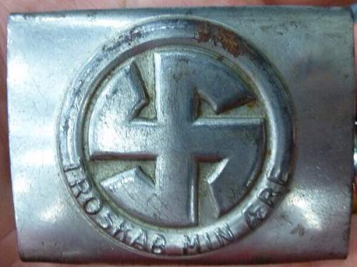 Questionable Early SS Belt Buckle