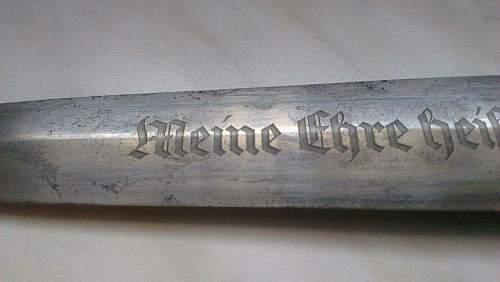 SS dagger by Herder...concern