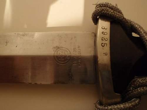 SS RZM Dagger 1939