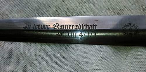 Strange SS DAGGERS BY HAMMESFAHR WITH DEDICATION (GIFT DAGGERS)