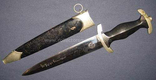 Brown scabbards on mm SS daggers?