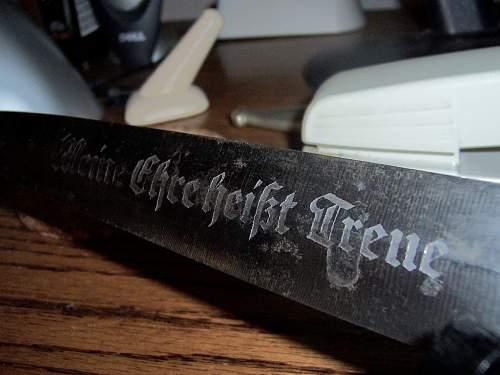 SS dagger- Himmler presentational blade..