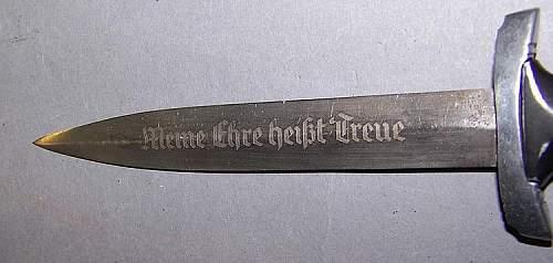 Miniature SS dagger
