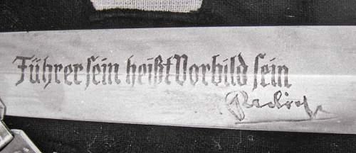 SS dagger with rare inscription?
