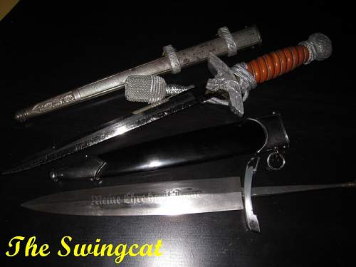 Luftwaffe and SS dagger help please.