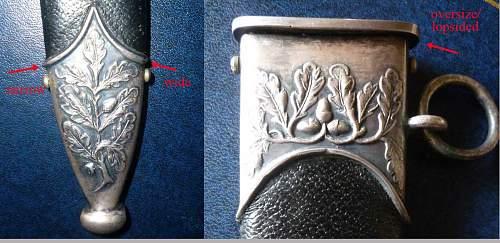 """ Pattern ""   SS Honor Dagger Scabbard"