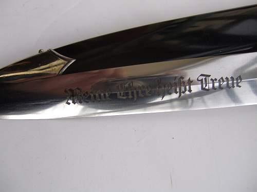 My first SS Dagger: RZM 1196/38 SS