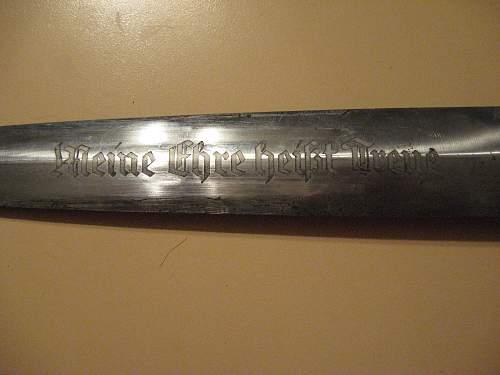 1933 Himmler SS Honor Dagger