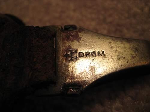 My first SS-Dienstdolch SS RZM 121/34