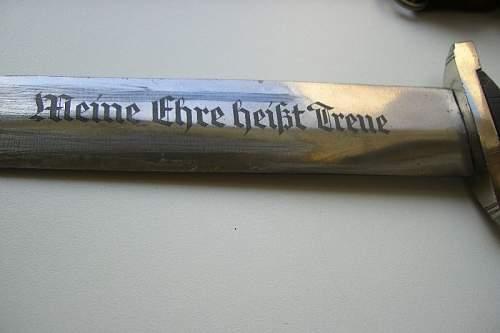 markings on ss blade