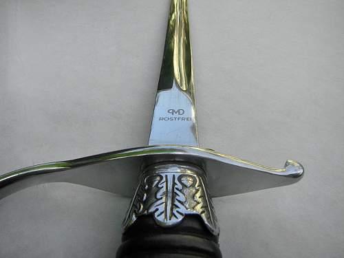 PMD Rostfrei Dachau SS NCO's sword.