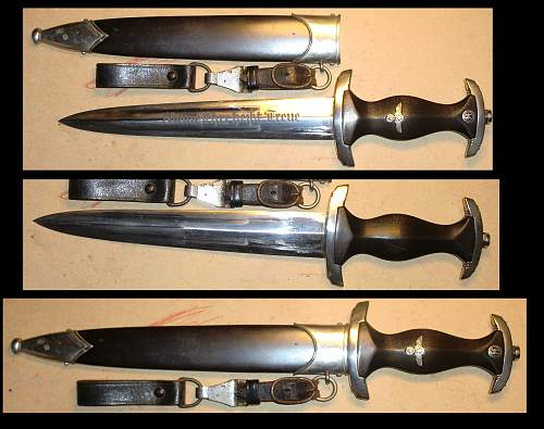 SS dagger rare Trade mark: Eickhorn RZM transitional