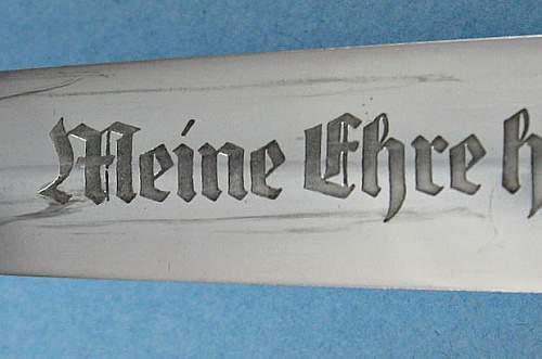 Himmler Inscription SS Dienst Dolch...a Stunning Mint Example.