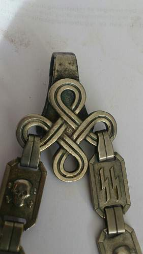 Please comment on this 1936 chained SS dagger