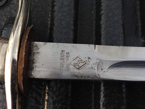 Hello I was wondering why this police sword has a SS marked blade?