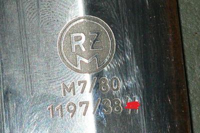 SS Dienstdolch : RZM M7/80 1197/38 SS