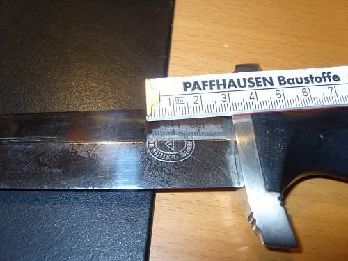 SS Dienstdolch 33 - Gotlieb Hammesfahr blade opinions