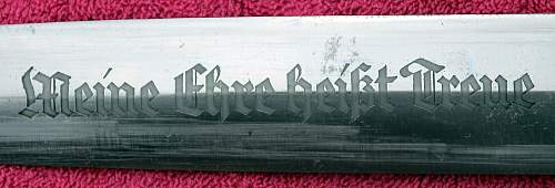 Transitional SS Dagger F. Herder S.A. Solingen