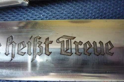 SS dagger - a popiya or the original?