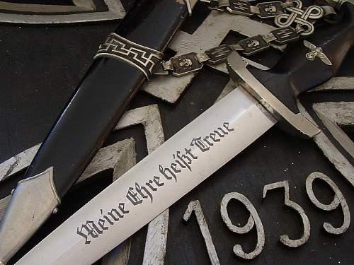 "Chain Dagger of SS General, Brigadefuhrer Georg Altner."""