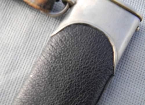 Gottlieb-Hammesfahr SS Dagger w/ Leather Wrapped Scabbard?