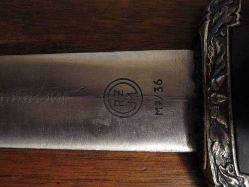 SS Honour dagger: Real or Fake RZM M7/36