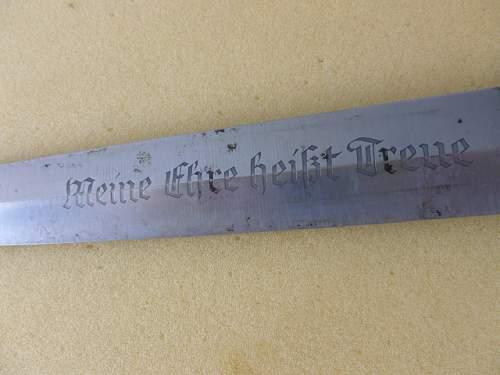 SS dagger 33 MAKER RZM 1053/38.SS