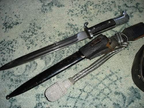 German SS engraved dress bayonet