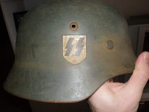 SS double decal Stahlhelm! I know