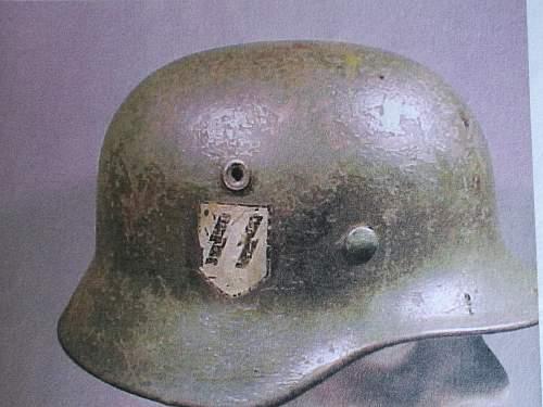 Waffen SS M40 Helmet.