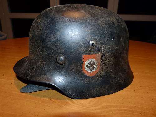 Need Help  -  SS helmet i picked up at a flea market in Belgium.  Assuming it is a fake.  Thanks