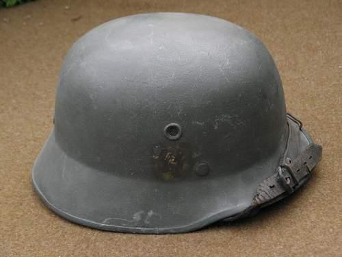 Original helmet SS fiberglass, probably for the parade