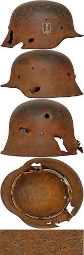 Suspect helmet at Collectors Guild.