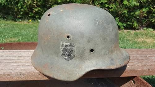 M40 ET 66 Lot Nr. 507.   Battle damage