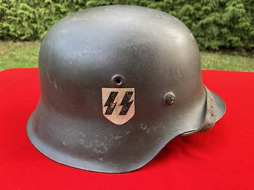 SS M42 Helmet Belonging to K. Schott