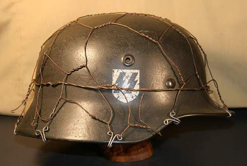 SS Helmet-The Helmet is real but is the SS decal real?