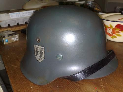M42 single decal SS Helmet.What about this one?