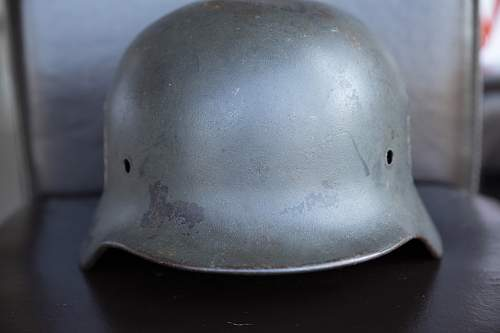 Quist M40 DD Feldgendarmerie Helmet. Interesting Serial!