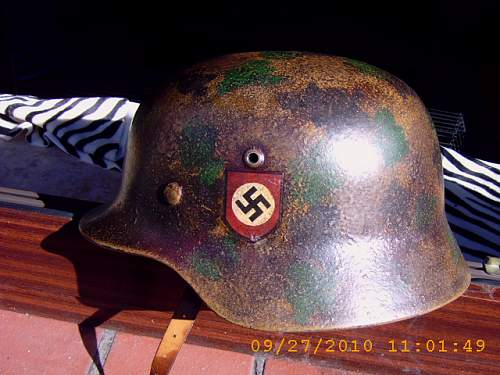 Got offered this really nice Camo. SS-helmet.