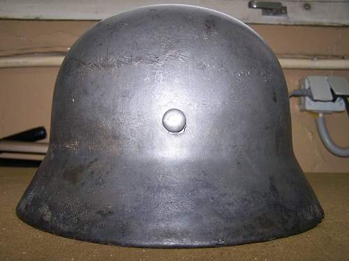 SS M 35 EF named and researched steel helmet