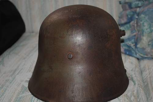 Early SS-helmet with double runic shield