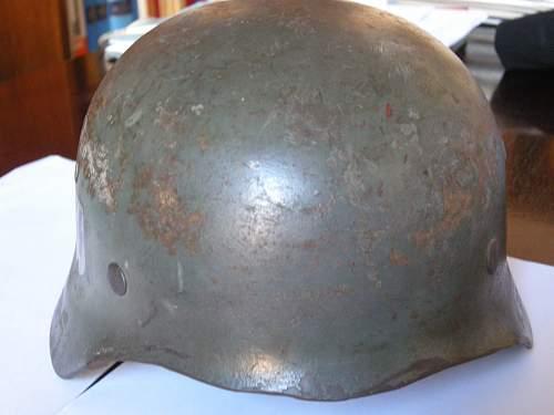 A curious SS helmet