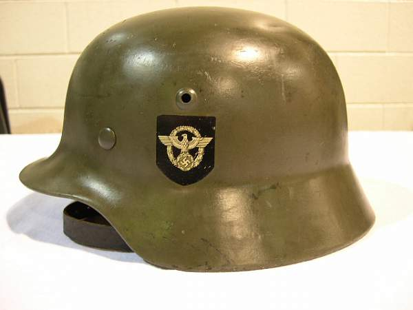 Double Decal Police helmet and SS cover
