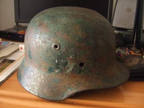 SS handmade decals on m40 helmet