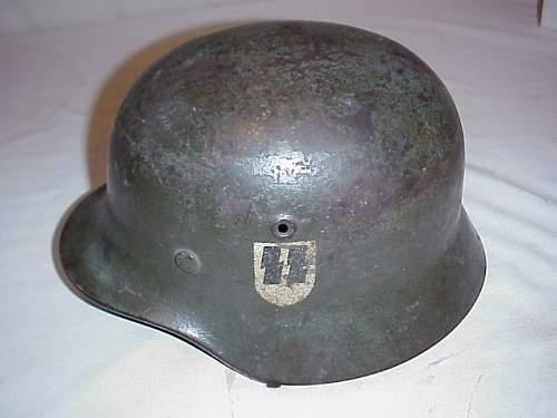 Strange ss helmet